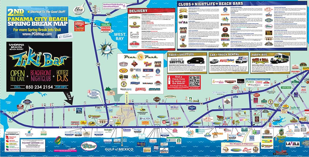 Panama City Beach Spring Break Pcb Map