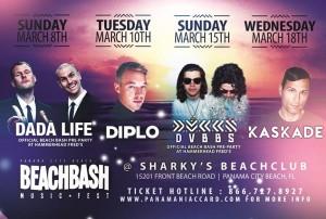 Beach Bash Music Fest 2015 performers